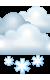 Погода на 22 января, понедельник. Утро: пасмурно, снег