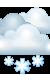 Погода на 22 января, понедельник. Вечер: пасмурно, снег