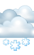Погода на 26 января, пятница. Вечер: пасмурно, снег