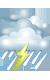 Погода на 17 июня, воскресенье. Ночь: пасмурно с просветами, дождь, возможна гроза