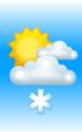 Погода в Апатитах на 27 марта, понедельник. День: облачно, небольшой снег