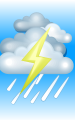Погода в Домбае на 30 апреля, воскресенье. День: пасмурно с просветами, дождь, гроза