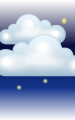 Погода в городе Апиа на 21 января, суббота. Ночь: пасмурно с просветами