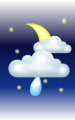 Погода в Перегинском на 25  апреля, четверг. Вечер: облачно, небольшой дождь