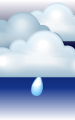 Погода в Йошкар-Ола на 1 июля, суббота. Ночь: пасмурно, небольшой дождь