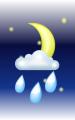 Погода в Оттаве на 27 июня, вторник. Вечер: малооблачно, дождь