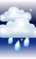 Погода в Варадеро на 23 января, понедельник. Вечер: пасмурно с просветами, дождь