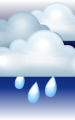 Погода в Киото на 30  апреля, вторник. Ночь: пасмурно, дождь