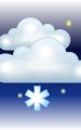 Погода в Новодвинске на 28 марта, вторник. Вечер: пасмурно с просветами, небольшой снег