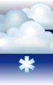 Погода в Могилёве на 23 февраля, четверг. Вечер: пасмурно, небольшой снег