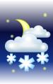 Погода в Пограничном на 30 марта, четверг. Вечер: облачно, снег