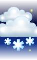 Погода в городе Акакура на 27 января, пятница. Вечер: пасмурно с просветами, снег