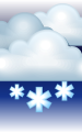 Погода в Серебряных Прудах на 27 января, пятница. Ночь: пасмурно, снег