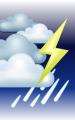 Погода в Белгороде на 30 июня, пятница. Вечер: облачно, небольшой дождь, гроза