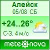 Погода от Метеоновы по г. Алейск