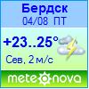 Погода от Метеоновы по г. Бердск