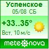 Погода от Метеоновы по с. Успенское