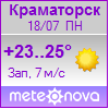 Погода от Метеоновы по г. Краматорск
