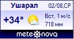Погода в Ушарале - установите себе на сайт информер с прогнозом погоды