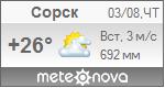 Погода от Метеоновы по г. Сорск