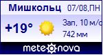 Погода в Мишкольце - установите себе на сайт информер с прогнозом погоды