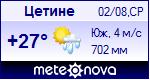 Погода в Цетинье - установите себе на сайт информер с прогнозом погоды