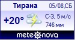 Погода в Тиране - установите себе на сайт информер с прогнозом погоды