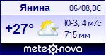 Погода в Янине - установите себе на сайт информер с прогнозом погоды