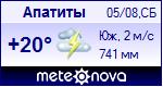 Погода в Апатитах - установите себе на сайт информер с прогнозом погоды