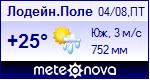 Погода в Лодейном Поле - установите себе на сайт информер с прогнозом погоды