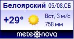 Погода в Белоярском Прогноз погоды в Белоярском на