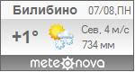 Погода от Метеоновы по г. Билибино