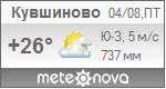 Погода от Метеоновы по г. Кувшиново