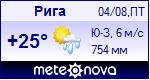 Погода в Риге - установите себе на сайт информер с прогнозом погоды
