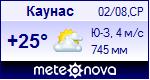 Погода в Каунасе - установите себе на сайт информер с прогнозом погоды