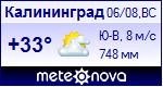 Погода в Калининграде - установите себе на сайт информер с прогнозом погоды