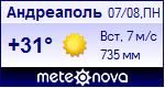 Погода в Андреаполе - установите себе на сайт информер с прогнозом погоды