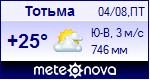 Прогноз погоды в Тотьме на 1 дней — Яндекс Погода