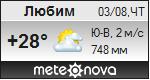 Погода от Метеоновы по г. Любим