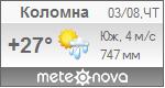Погода от Метеоновы по г. Коломна