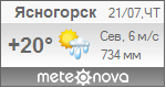 Погода от Метеоновы по г. Ясногорск