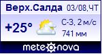 Погода в Верхней Салде - установите себе на сайт информер с прогнозом погоды
