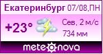 Погода от Метеоновы по г. Екатеринбург
