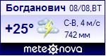 Погода в Богдановиче - установите себе на сайт информер с прогнозом погоды