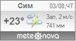 Погода от Метеоновы по г. Сим