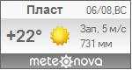 Погода от Метеоновы по г. Пласт