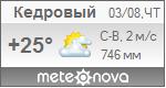 Погода от Метеоновы по г. Кедровый