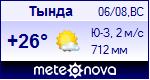 Погода в Тынде - установите себе на сайт информер с прогнозом погоды