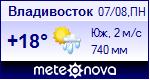 Погода во Владивостоке - установите себе на сайт информер с прогнозом погоды