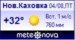 Погода в Новой Каховке - установите себе на сайт информер с прогнозом погоды